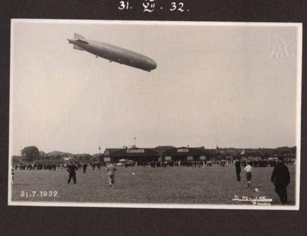 Graff Zeppelin lądujący na Zaspie.